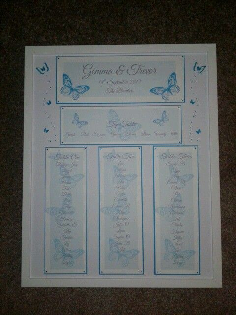 Butterfly Seating plan