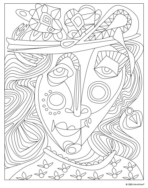 printable coloring pages of masterpieces - photo#3