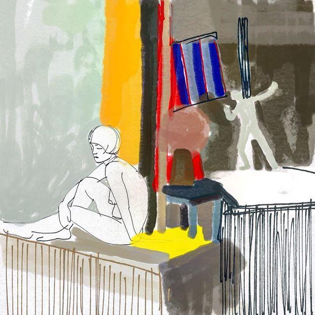 #планшетноетворчество #калякималяки #арт #шретерарт #натурщица #набросок #цвета #композиция #графика #art #shreterart #digitalart #drawings #woman #color #graphic