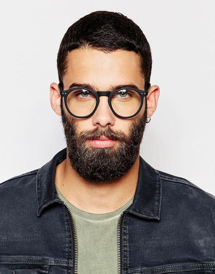 Bild 3 von ASOS – Schwarze Brille mit runden transparenten Gläsern