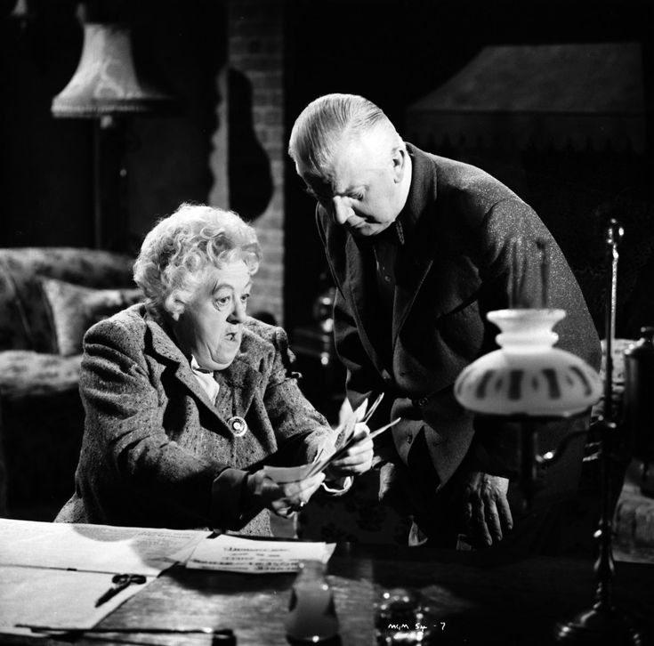 1964. Murder Most Foul. Loosely based on Agatha Christie's Mrs McGinty's Dead.  Margaret Rutherford as Miss Marple, Stringer Davis as Mr Stringer.