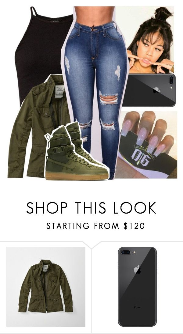 """"""""""" by theyknowniyaaa ❤ liked on Polyvore featuring Abercrombie & Fitch and NIKE"""