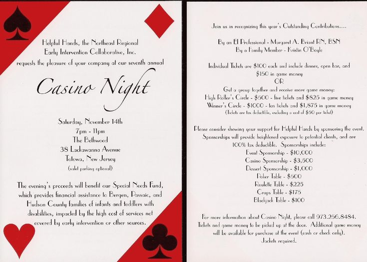 17 best Casino Night Fundraiser Ideas images on Pinterest Casino - fundraiser invitation templates