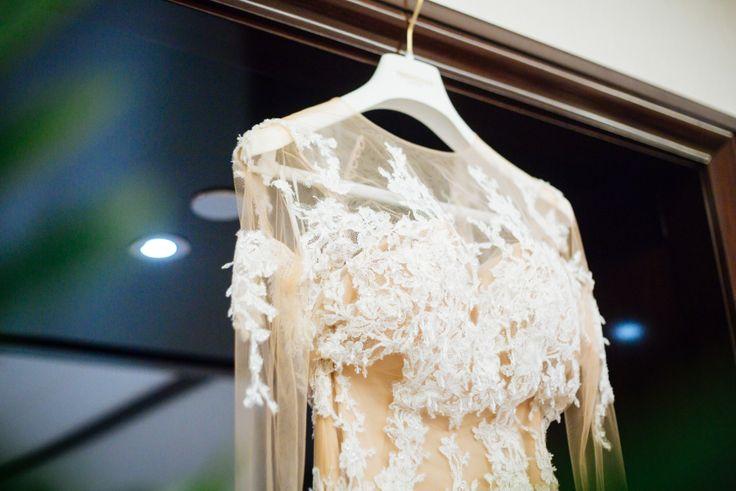 wedding dress// robe de mariage ; skiss ; lace//dentelle ; beige ;   http://www.skiss.fr/