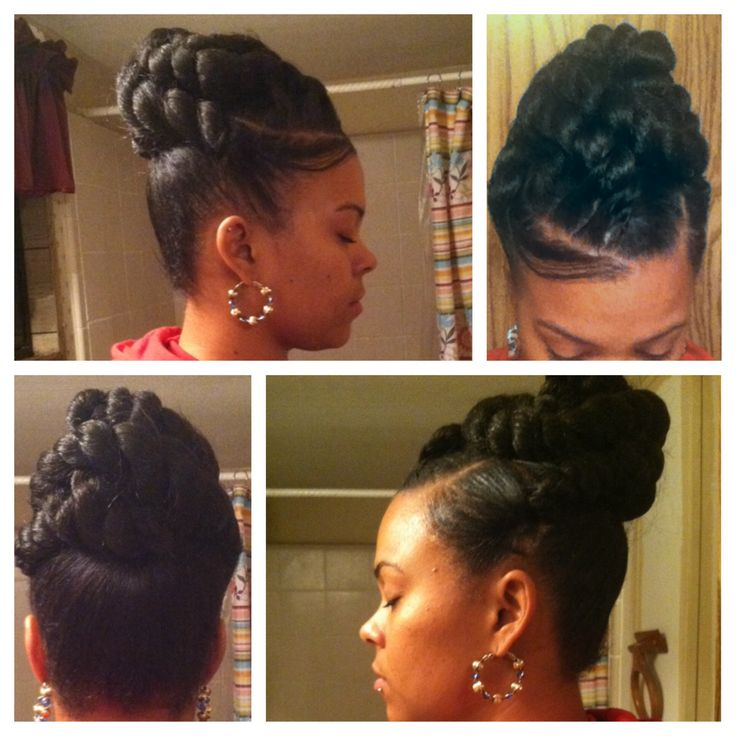jumbo twist updo hair