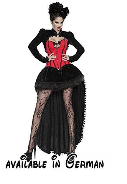 Vampir-Kostüm Damen schwarz-rot S Verkleidung sexy mit Rock, Petticoat, Corsage, Bolero Halloween / Karneval.  #Apparel #DRESS