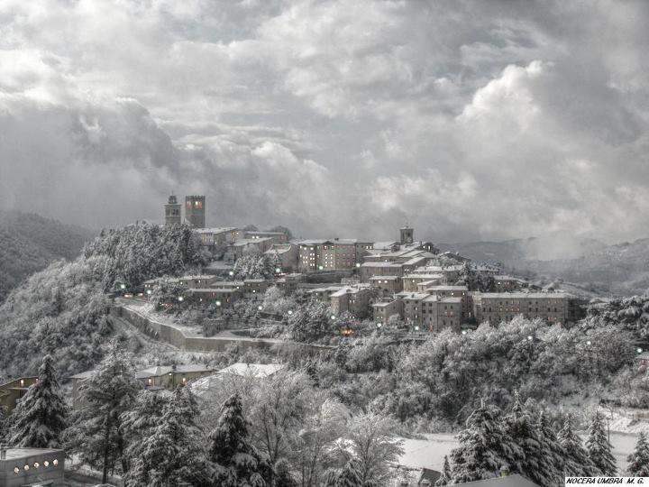 Nocera Umbra e la neve.