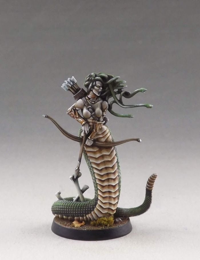 Medusa. Sculpted by Aragorn Marks, painted by Martin Grandbarbe