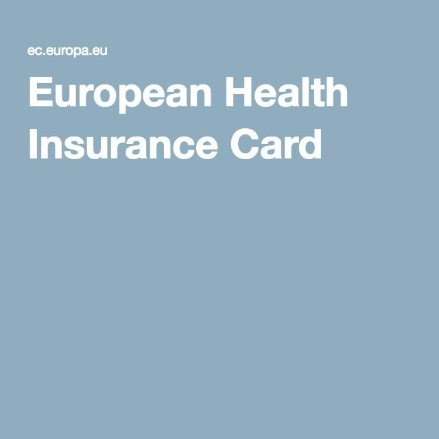 New Pictures European Health Insurance Card Concepts The Best
