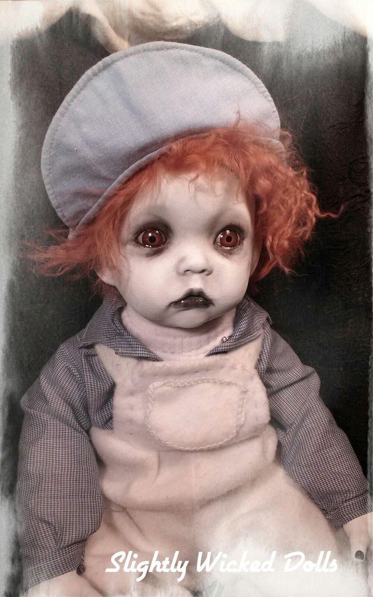Toby by Slightly Wicked Dolls, Creepy Horror Halloween doll
