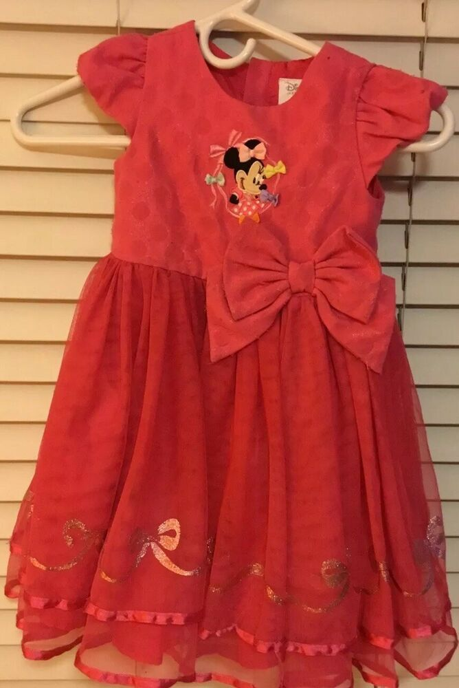 DISNEY Store Minnie Mouse Costume for Girls Red Size 7//8