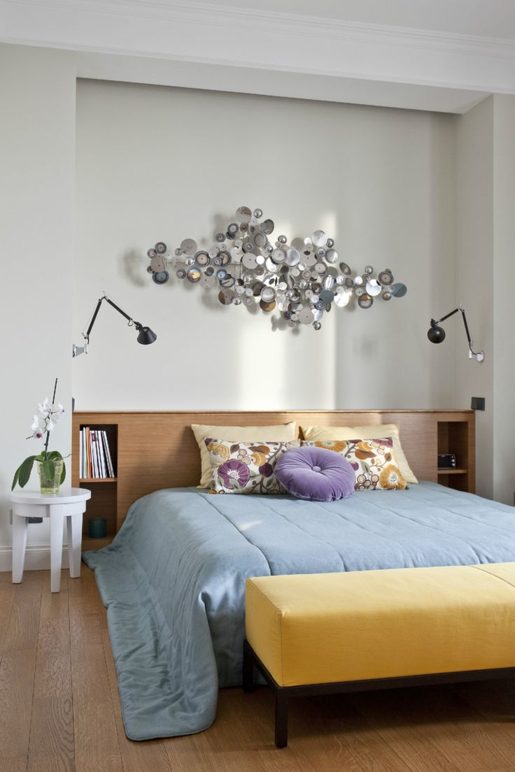 Bedroom IdeasSimple Bedroom Design With Metal Sculpture