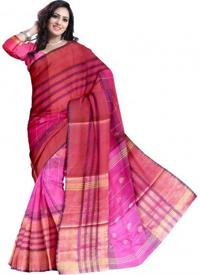 Pink Pure Uppada Handloom Silk Saree & Blouse Product code: UHSUP7S004 Retail price: 4,528/- Sale price : 4,312/-