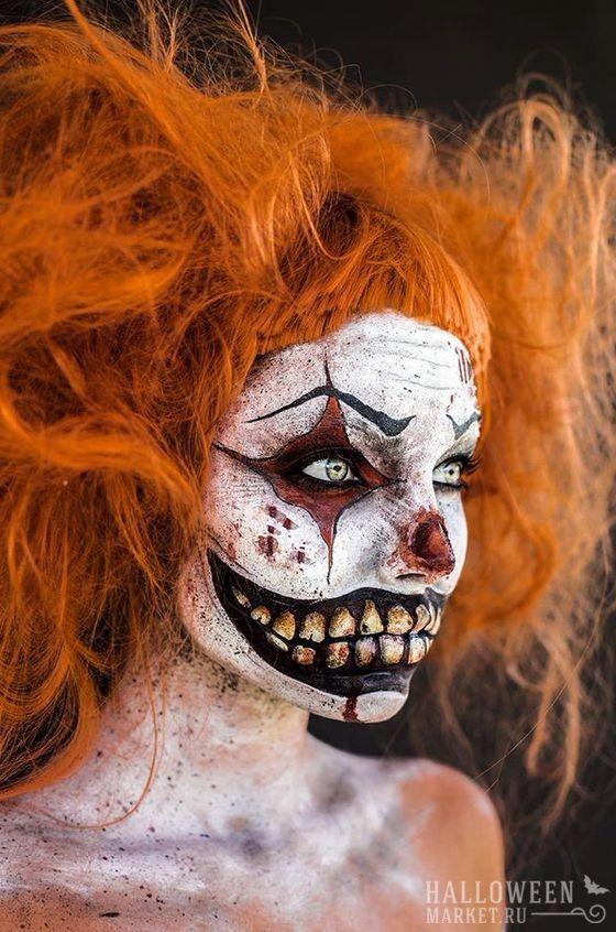 #clown #makeup #costume #halloweenmarket #halloween  #грим #клоун #костюм #образ #страх Страшный клоун на хэллоуин: костюм, грим, образ (60 идей)