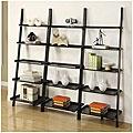 Black 5-tier Leaning Ladder Shelf (Set of 3)   Overstock.com $265