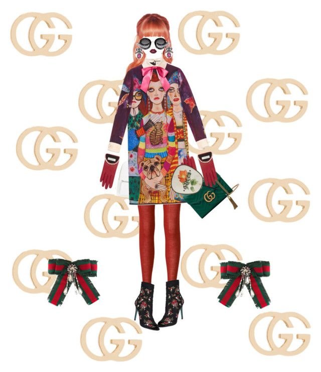 """""""Gucci Doll 100%"""" by shucreamu on Polyvore featuring ファッション, Gucci, Uniqlo, Kate Spade, Chelsea28, Illamasqua, Lime Crime と Betsey Johnson"""