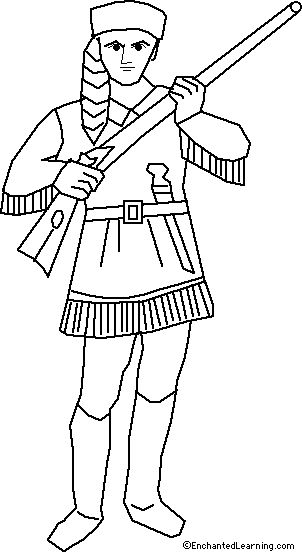 August 17 -- Davy Crockett's Birthday Born in tennessee 1876 -- Coloring pages great site with activities