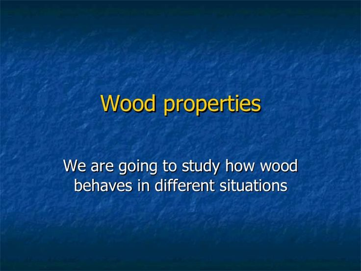 This is a small PowerPoint presentation I used last season at classroom with my students of 1º E.S.O. (12-13 years old), introducing wood properties.