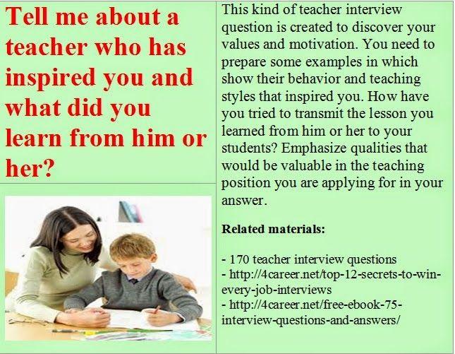 related materials 170 teacher interview questions ebook azjobebooksinfodetails - Teacher Interview Tips For Teachers Interview Questions