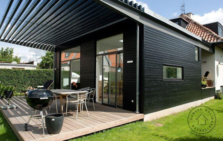 stålbjælke, bærende konstruktion, frokostterrasse, tilbygning.
