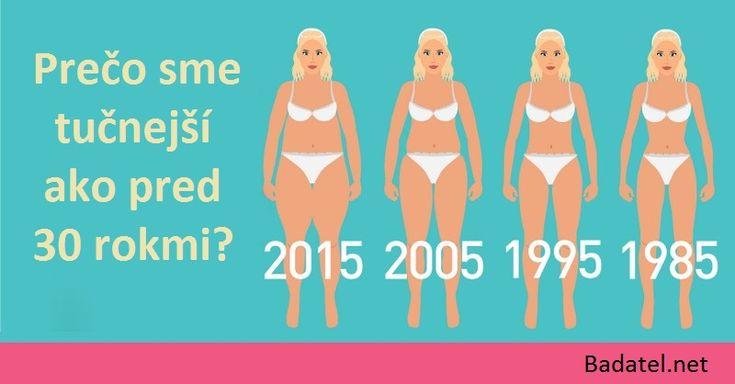 3 dôvody, prečo sme dnes tučnejší ako pred 30 rokmi (nie je to strava, ani cvičenie)
