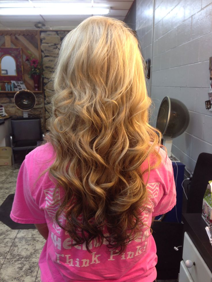 Reverse Ombre Curls Short Hairstyle 2013