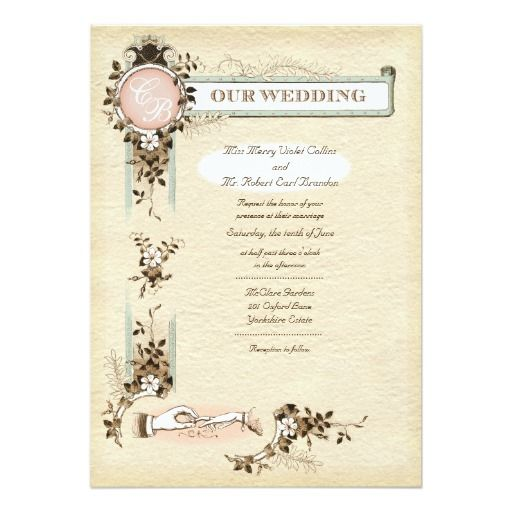 38 best Victorian Wedding Invitations images on Pinterest Bridal