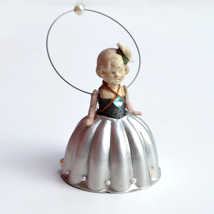 Cinderella original vintage ornament Tiny Dancer doll vintage mold    by Elizabeth Rosen. $58.00, via Etsy.