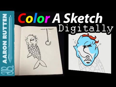 Learn how to convert a pencil sketch or ink drawing into a digital format that can be easily inked and colored using digital art software like Corel Painter....
