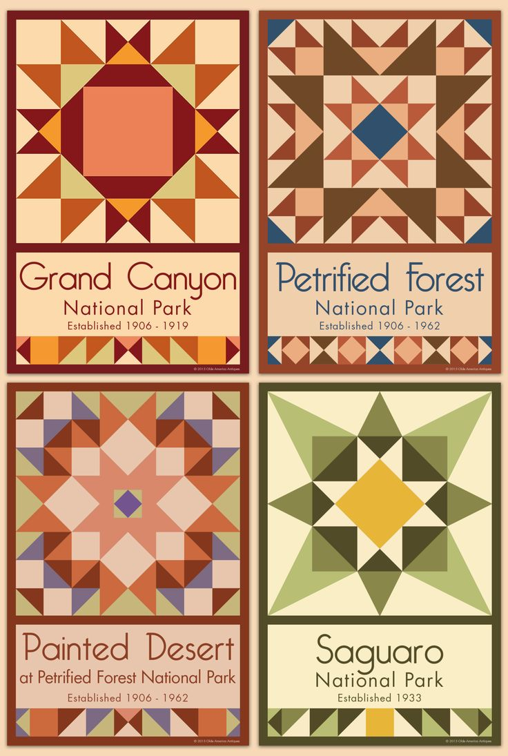 Arizona Parks - We have quilt blocks of more than 75 National Parks and Monuments for sale on our web site. Choose the parks you want, single quilt blocks or sets. Free shipping over $100!