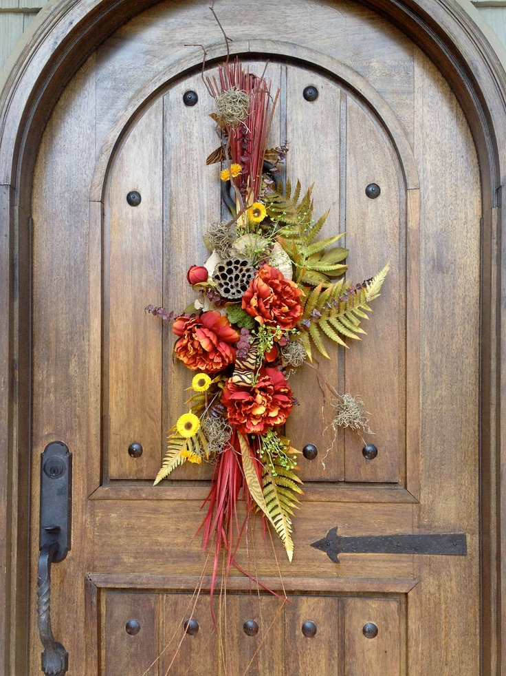 Autumn Door Swag by JCHflorals on Etsy & 16 best Front Door Swags images on Pinterest | Door swag Fall ... pezcame.com