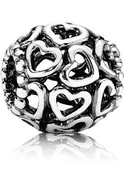 Pandora Herzen filigranes Silberelement 790964