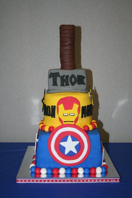 The Avengers Birthday Cake