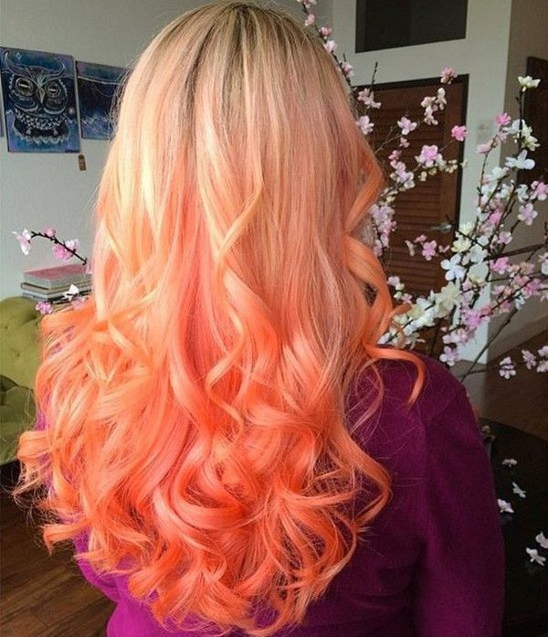 Love this sunset hair color with natural ombre effect~ try vp hair extensions, help you keep ideal hair color longer