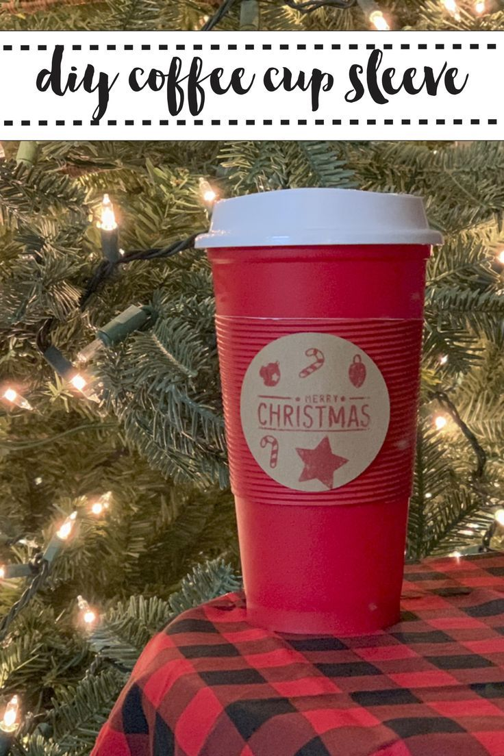 f14f84bbcee Make custom coffee cup sleeves with this simple DIY from Everyday Party  Magazine.  Sponsored  DIY  Starbucks  Xyron