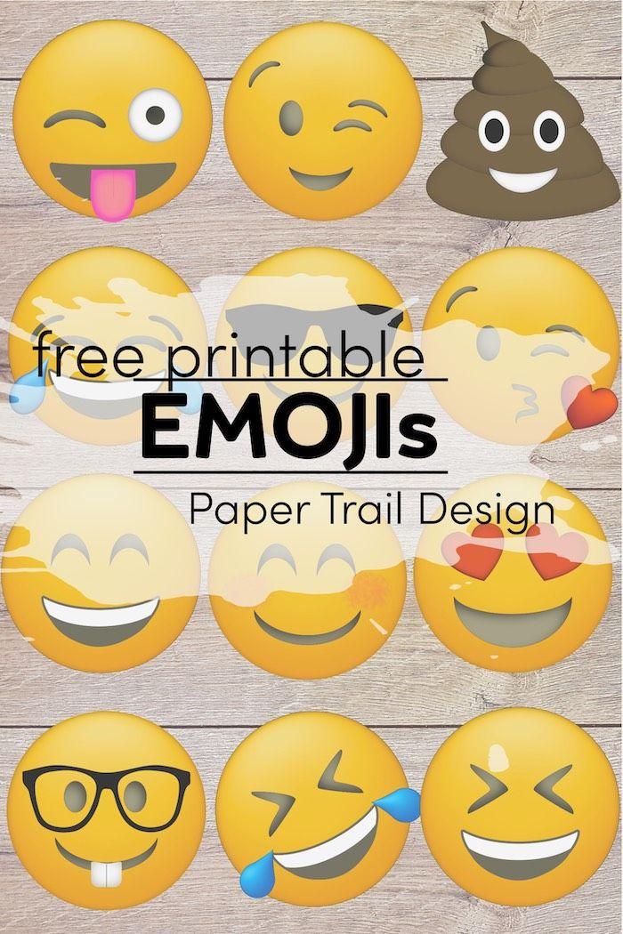Emoji Faces Printable Free Emoji Printables Paper Trail Design Free Emoji Printables Emoji Printables Free Emoji