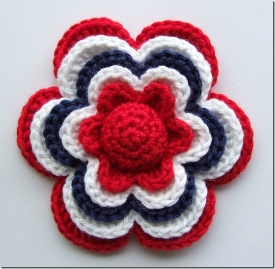 A beautiful flower in the colours of the Norwegian flag for our National Day the 17. of May.