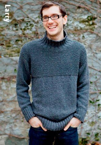 Мужской свитер связать спицами описание