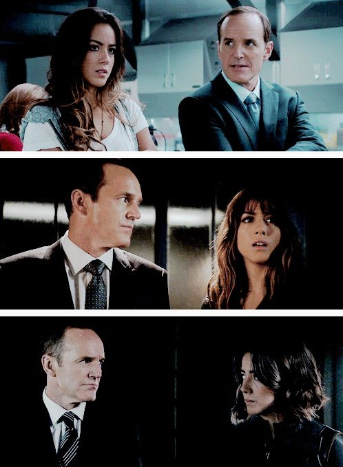 """Phil Coulson and Daisy """"Skye"""" Johnson #Marvel Agents of S.H.I.E.L.D. #AoS #AgentsofSHIELD 1x03 """"The Asset"""" 2x05 """"A Hen in the Wolf House"""" / 3x07 """"Chaos Theory"""""""