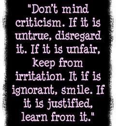 dont mind Constructive criticism quotes, Criticism
