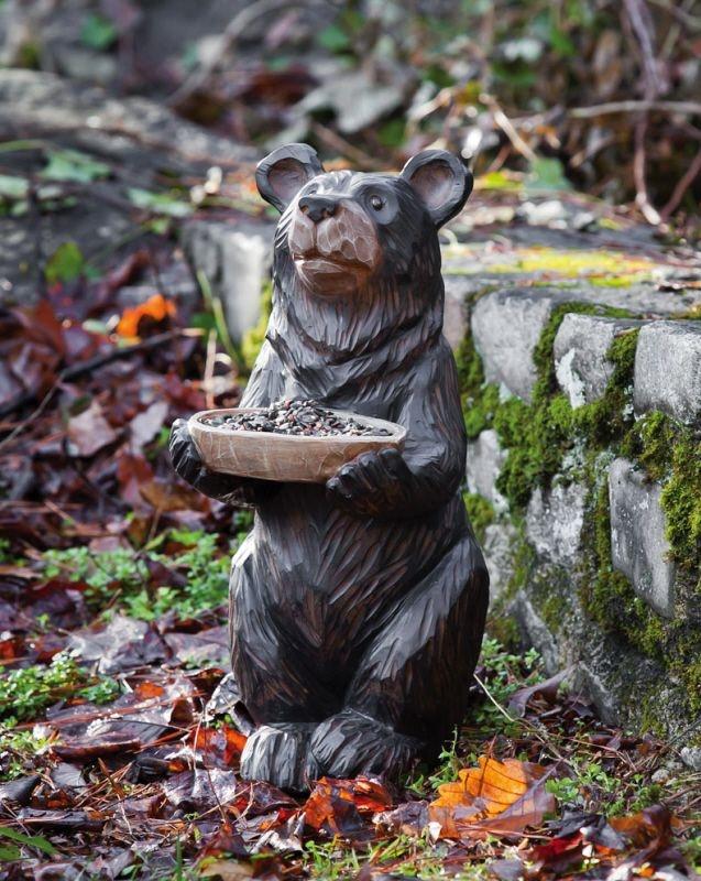 Bear Decorative Bird Bath Or Bird Feeder Garden Figure