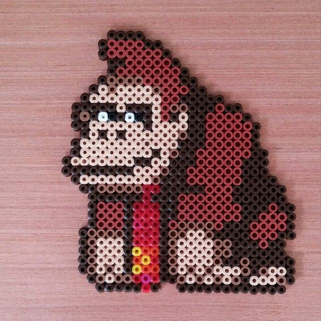 Donkey Kong hama beads by Sprite Planet