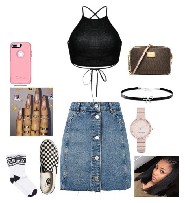 """Untitled #64"" by ashanticollins3 on Polyvore featuring Topshop, Vans, OtterBox, Nine West, Giani Bernini and MICHAEL Michael Kors"