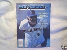 1981 WHATS BREWING? Milwaukee Brewers pete vuckovich