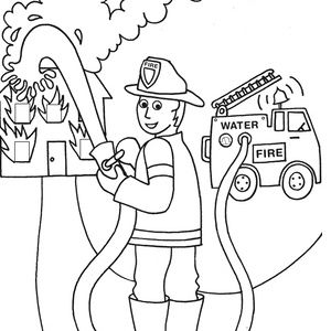 fire safety coloring page - 17 best images about fire prev on pinterest fire trucks
