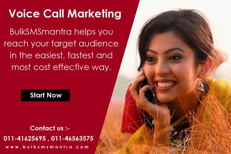 Voice calls are powerful tools used for promoting products and in disseminating messages and information.Know more call : http://www.bulksmsmantra.com/