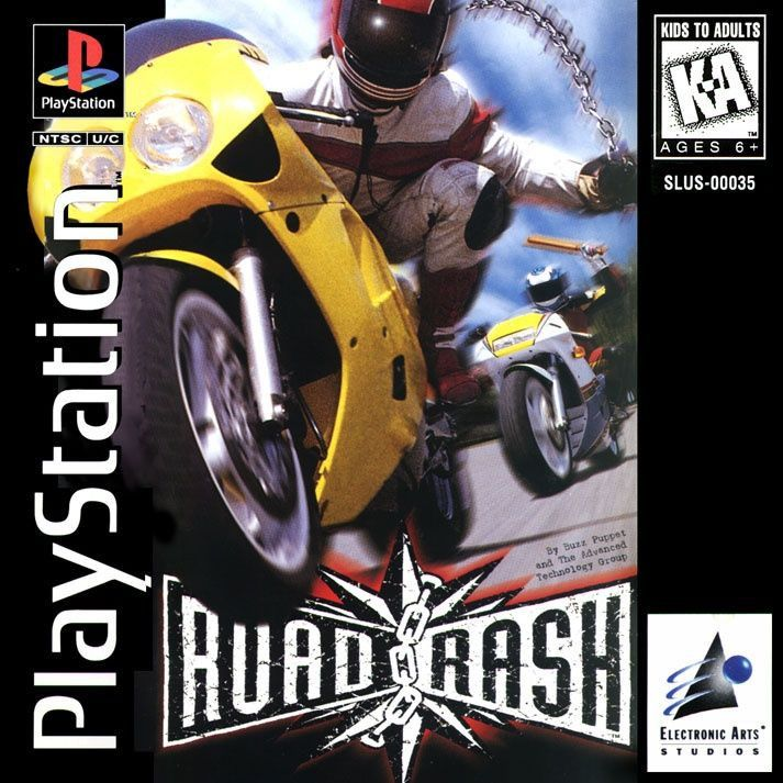 Road Rash (Sony PlayStation 1, 1995) Long Box Version Complete