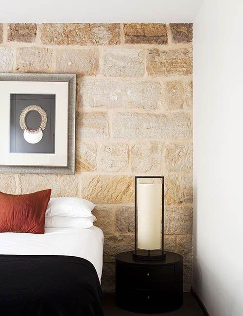 BALMAIN WHARF APARTMENTS | alwill  #sandstone #bedroom #pendant #artwork #interiors