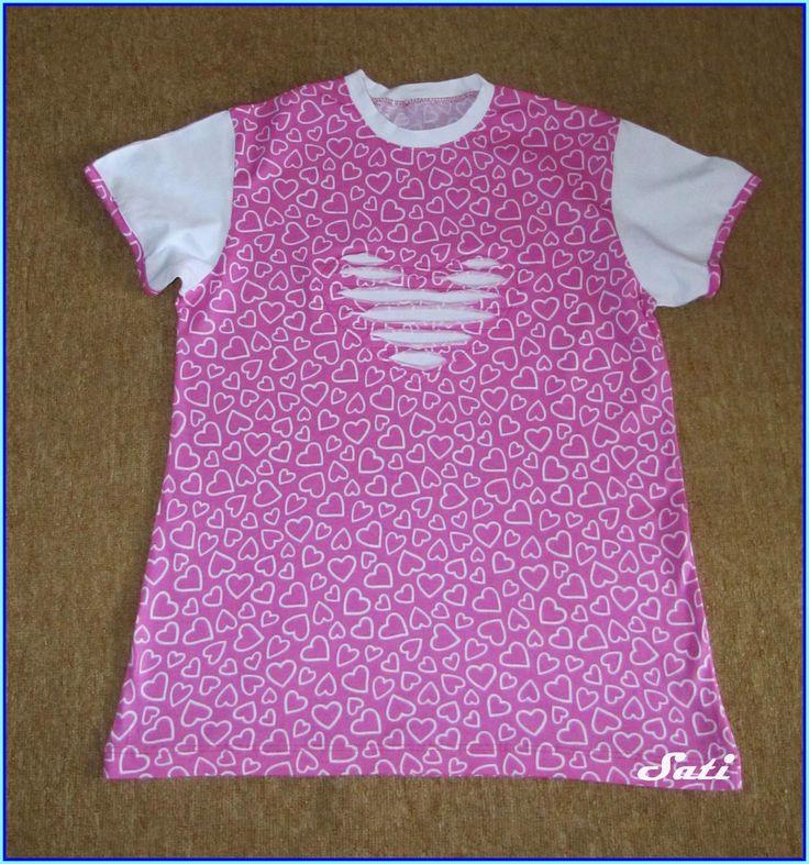 Sati výtvarné ručičky: Srdíčkové tričko