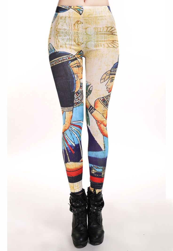 Egypt Queen Digital Print Tight Pant